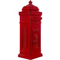 Säulenbriefkasten, Postkasten antik Rot