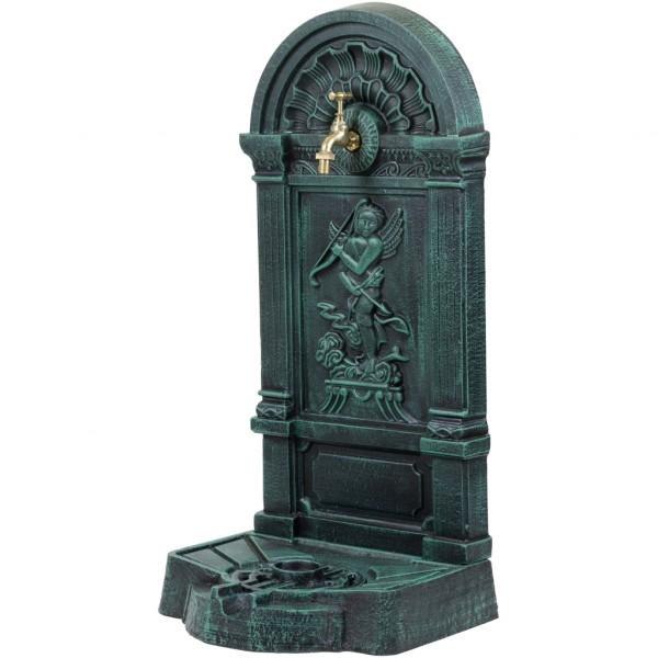 Standbrunnen aus Gusseisen dunkelgrün/schwarz, 76x35x30 cm