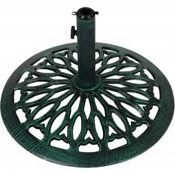 Sonnenschirmständer Gusseisen grün, 17 kg