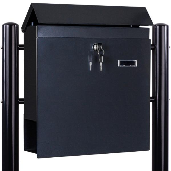 STILISTA® Standbriefkasten Stahl mit Anthrazit Beinen 37x36x