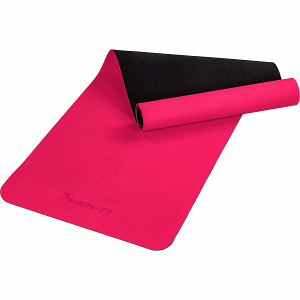 MOVIT® TPE Gymnastikmatte, 190x60x0,6cm, pink