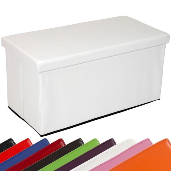 STILISTA® Bigbox, Faltbox, Sitzhocker, Sitzwürfel, Weiß