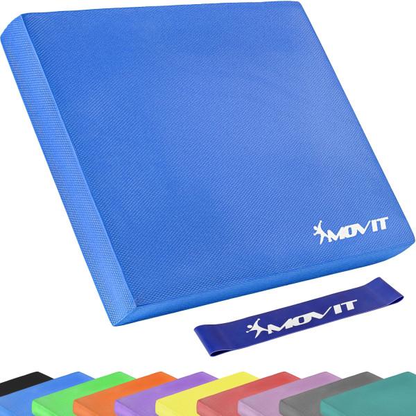 MOVIT® Balance Pad Sitzkissen blau mit Gymnastikband