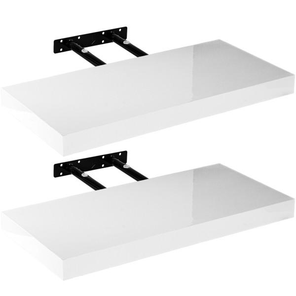"""STILISTA® Wandboard 2er Set """"Volato"""" Länge 40 cm Arktisweiß"""
