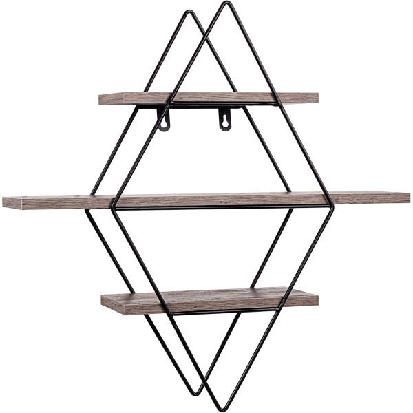 STILISTA® Design Regal karo Holz dunkel