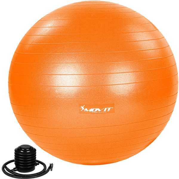 MOVIT® Gymnastikball mit Fußpumpe, 85 cm, orange
