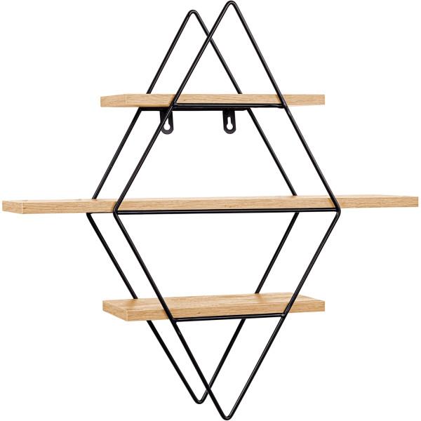 STILISTA® Design Regal karo Holz hell