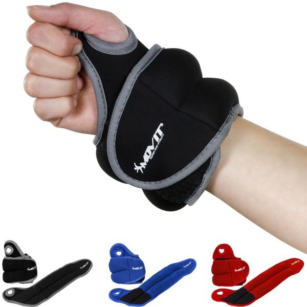 MOVIT® 1,0 kg Neopren Gewichtsmanschette Laufgewicht schwarz