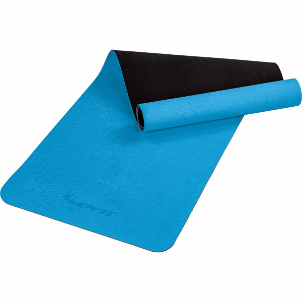 MOVIT® TPE Gymnastikmatte, 190x60x0,6cm, hellblau