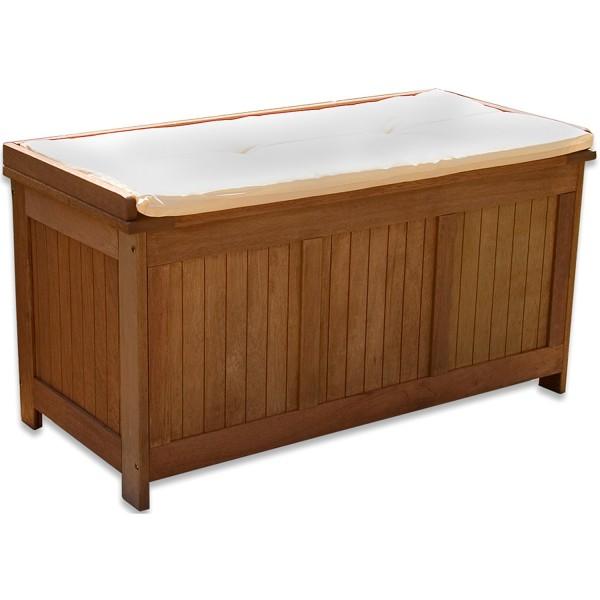 STILISTA® Gartenbox inkl. Kissen natur, 113 x 52,5 x 60,5 cm