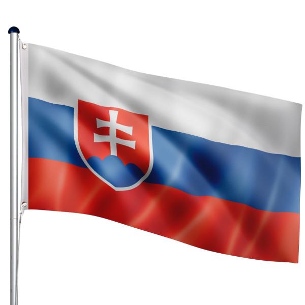 FLAGMASTER® Aluminium Fahnenmast Slowakei 6,50m