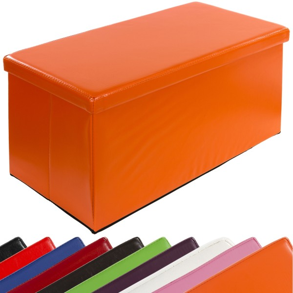 STILISTA® Bigbox, Faltbox, Sitzhocker, Sitzwürfel, Orange
