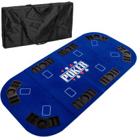 Pokerauflage 160x80cm, Farbe blau
