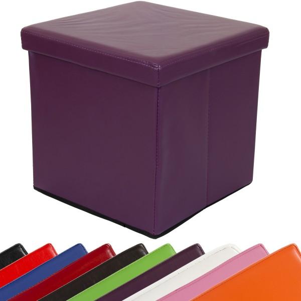STILISTA® Faltbox, Sitzhocker, Sitzwürfel, Lila