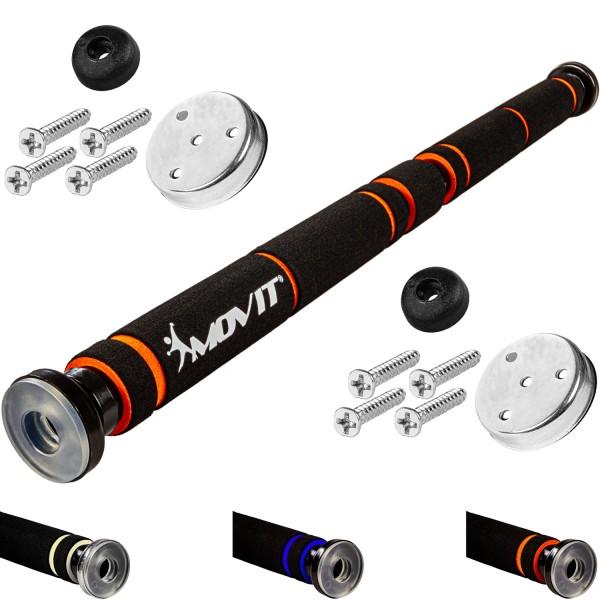 MOVIT® Klimmzugstange, schwarz/orange, Polsterung