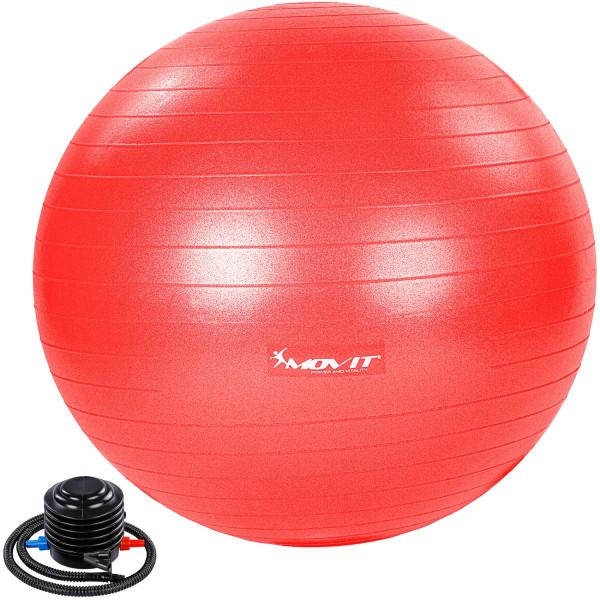 MOVIT® Gymnastikball mit Fußpumpe, 85 cm, rot