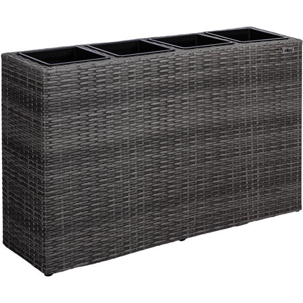 STILISTA® 4er Pflanzkübel, Farbe Grau