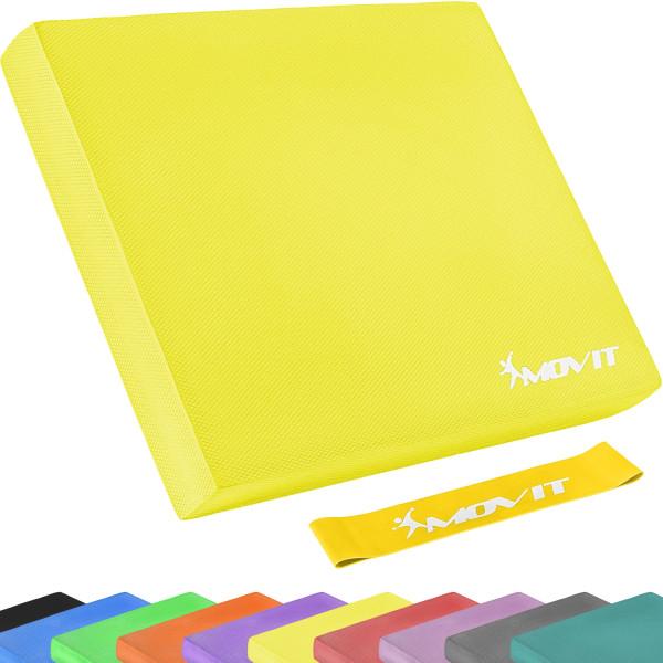 MOVIT® Balance Pad Sitzkissen gelb mit Gymnastikband
