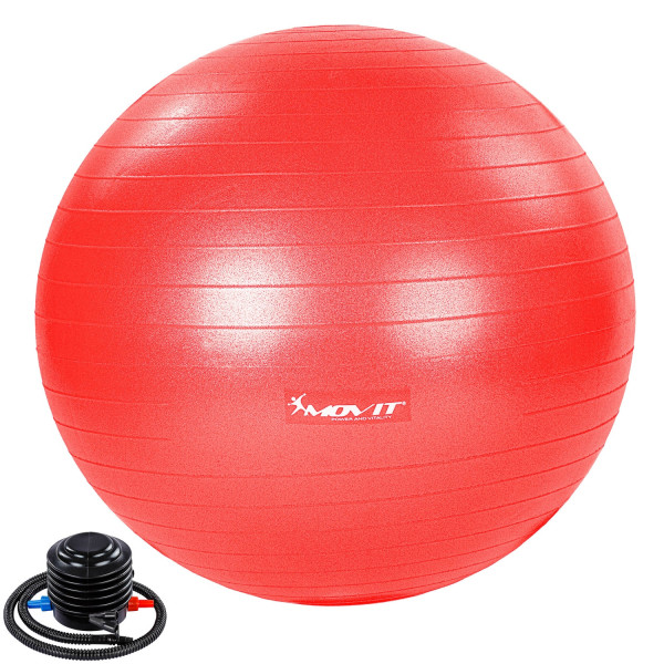 MOVIT® Gymnastikball mit Fußpumpe, 75 cm, rot