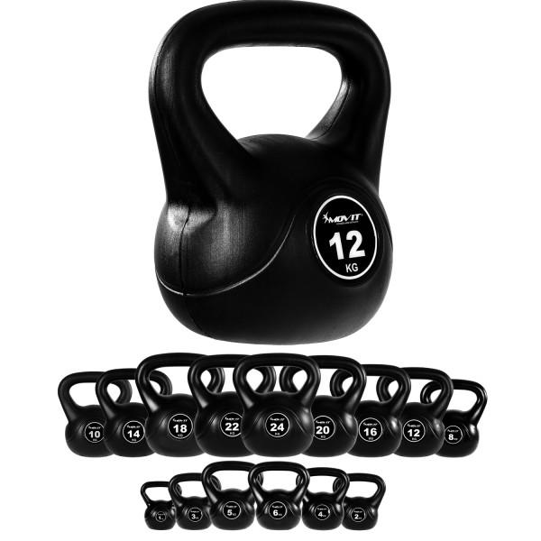 MOVIT® Kettlebell Kugelhantel 12 kg Rundgewicht Kugelgewicht