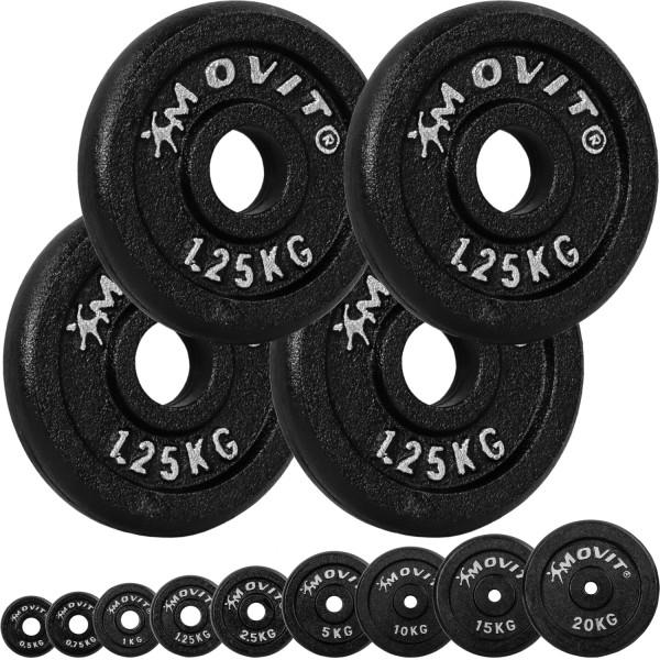 MOVIT® 4x Hantelscheiben 1,25 kg Gusseisen
