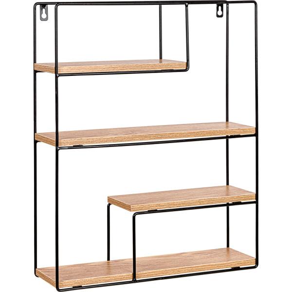 STILISTA® Design Regal rechteck Holz hell