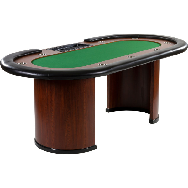 XXL Pokertisch GRÜN ROYAL FLUSH, 213 x 106 x 75cm, Casino