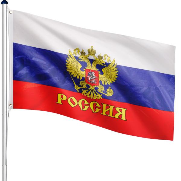 FLAGMASTER® Aluminium Fahnenmast Russland 6,50m