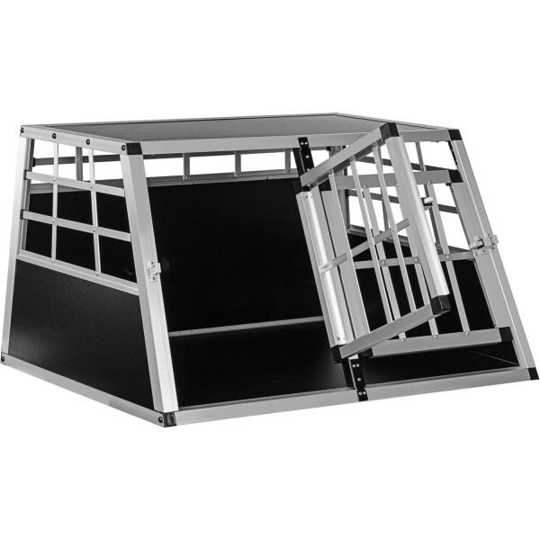 Alu Hundetransportbox 2-türig Rückwand 90°