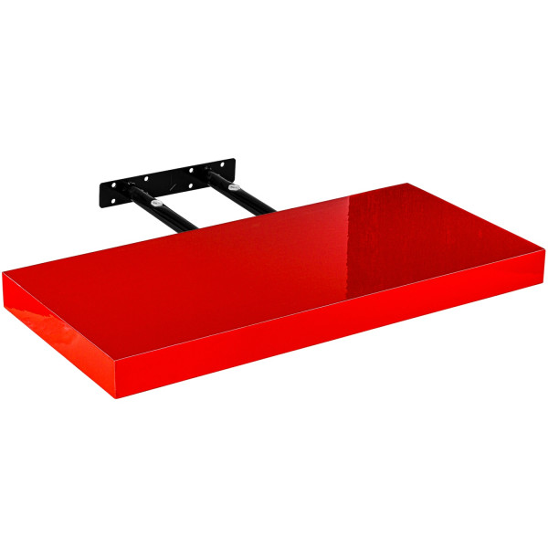 "STILISTA® Wandboard ""Volato"", Länge 50 cm, Hochglanz Rot"