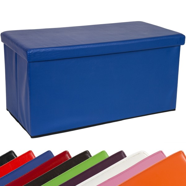 STILISTA® Bigbox, Faltbox, Sitzhocker, Sitzwürfel, Blau