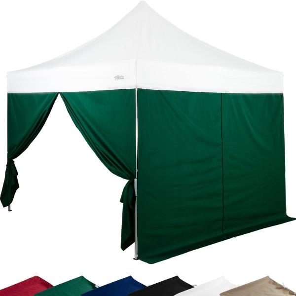 STILISTA® Seitenteile für Pavillon 2er Set grün, 3x3 m