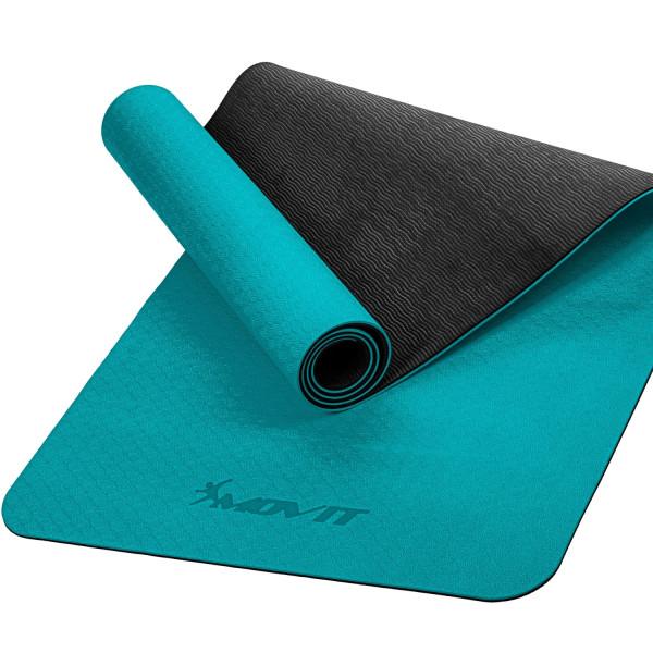 MOVIT® TPE Gymnastikmatte, 190x60x0,6cm, petrol