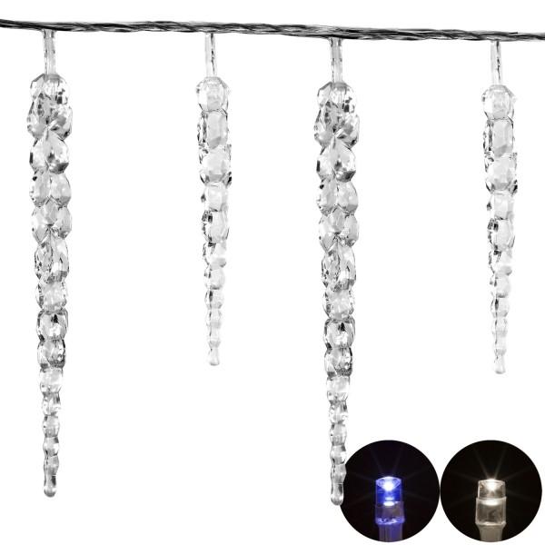 VOLTRONIC® 40 LED Lichterkette Eiszapfen kalt-weiß
