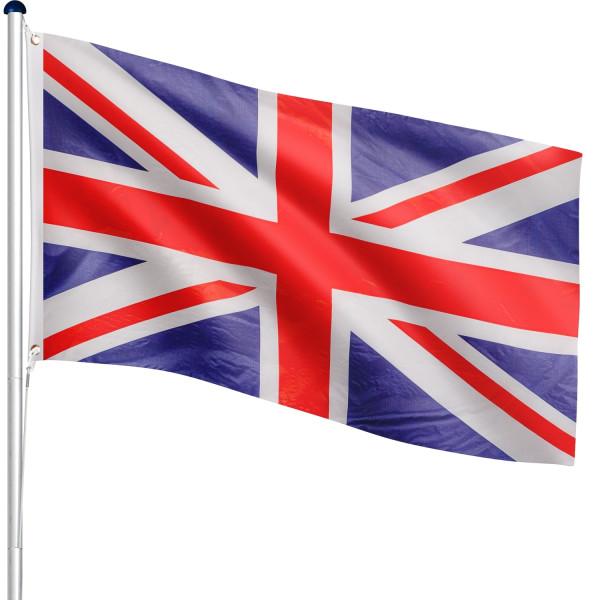 FLAGMASTER® Aluminium Fahnenmast Großbritannien 6,50m