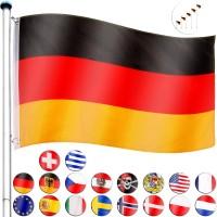 FLAGMASTER® Aluminium Fahnenmast Flaggenmast 6,50 Meter