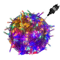 VOLTRONIC® 50 LED Lichterkette, bunt, Kabel transparent