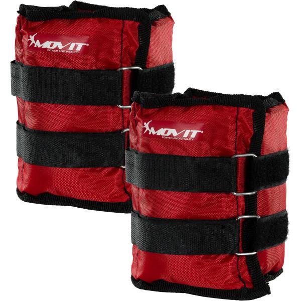 MOVIT® Gewichtsmanschetten, 2x 2,0 kg Laufgewichte rot