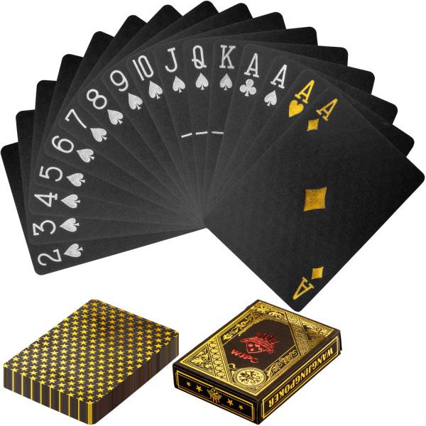 Poker Deck, Pokerkarten Kartendeck Schwarz/Gold