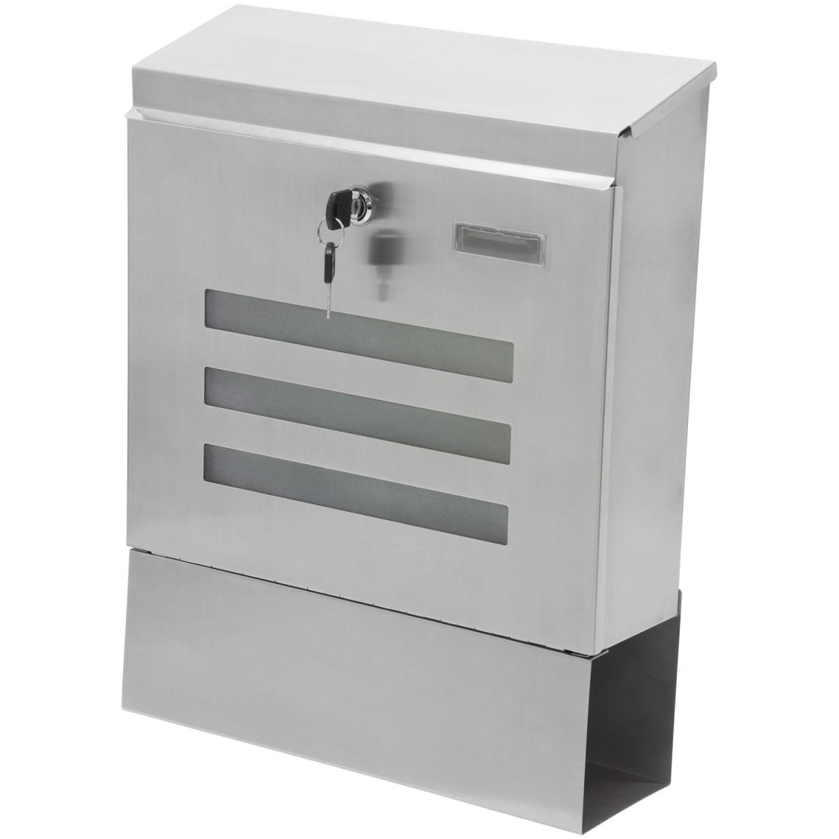 wand briefkasten hochwertig aus v2a edelstahl. Black Bedroom Furniture Sets. Home Design Ideas