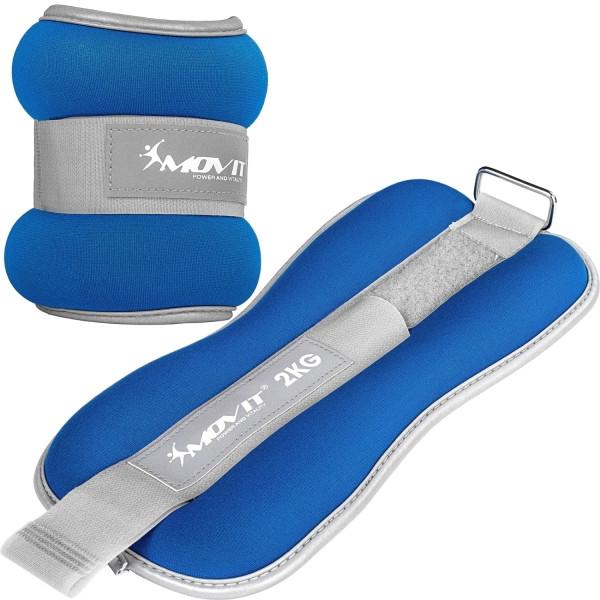 MOVIT® Neopren Gewichtsmanschetten 2x2 kg blau reflex F