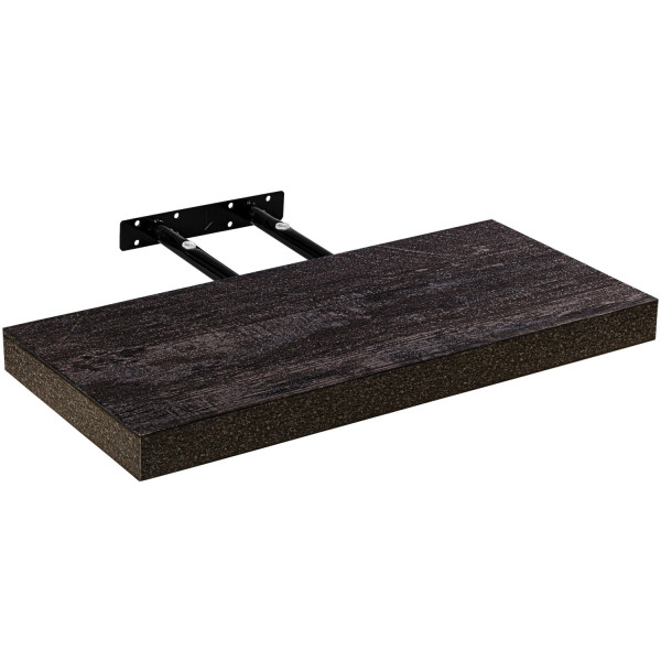 "STILISTA® Wandboard ""Volato"" Länge 60cm,Holz dunkel Rustikal"