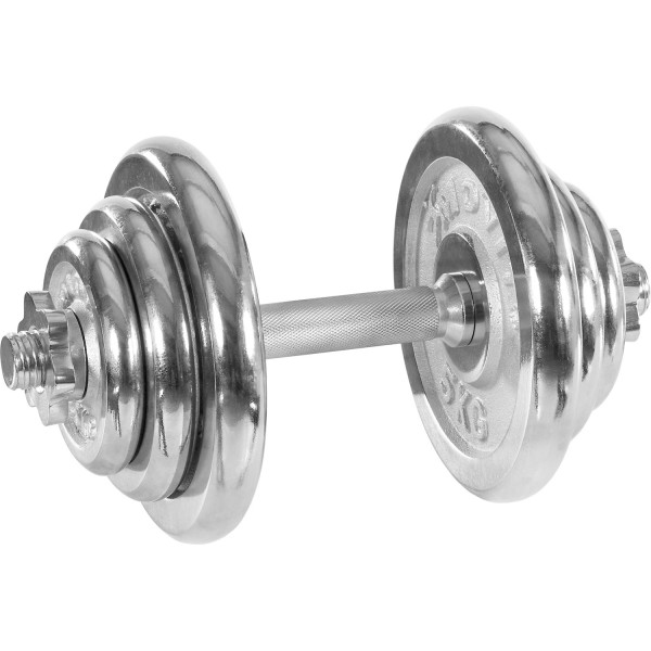 MOVIT® 20 kg Chrom Profi Kurzhantel Set, Gusseisen, Hantel