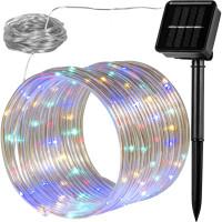 VOLTRONIC® 100 LED Solar Lichterschlauch, bunt