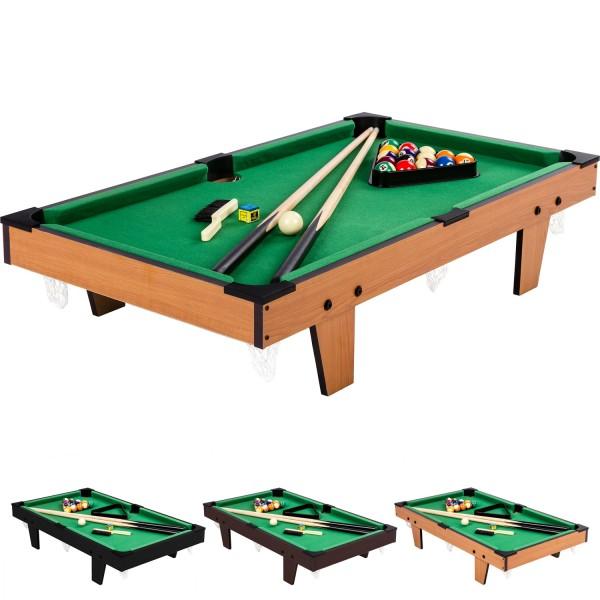 Mini Billardtisch + Zubehör, 92x52x19cm, helles Holzdekor