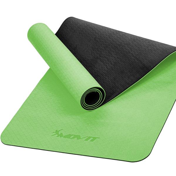 MOVIT® TPE Gymnastikmatte, 190x60x0,6cm, hellgrün