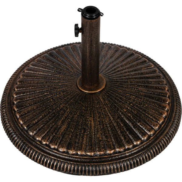 Sonnenschirmständer Gusseisen bronze, 20 kg