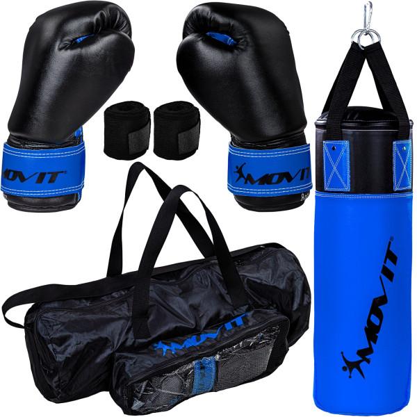 MOVIT® Boxsack Set für Kinder blau/schwarz
