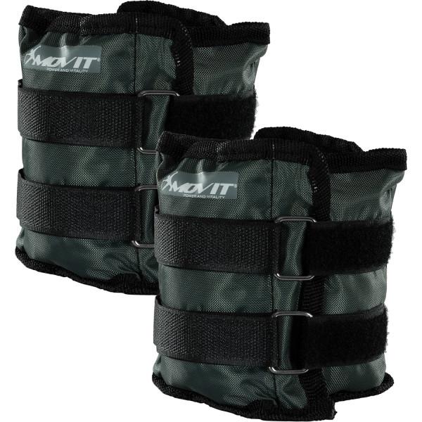 MOVIT® Gewichtsmanschetten, 2x 1,5 kg Laufgewichte grau