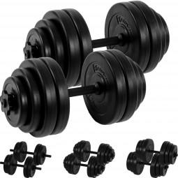MOVIT® 2x 15 kg Hantelset, 30kg Hanteln, Kurzhanteln